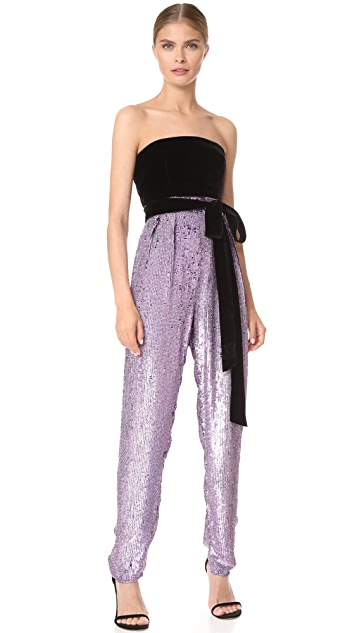 Monique Lhuillier High Waisted Cropped Pants