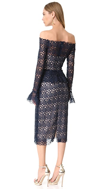 Monique Lhuillier Peplum Dress