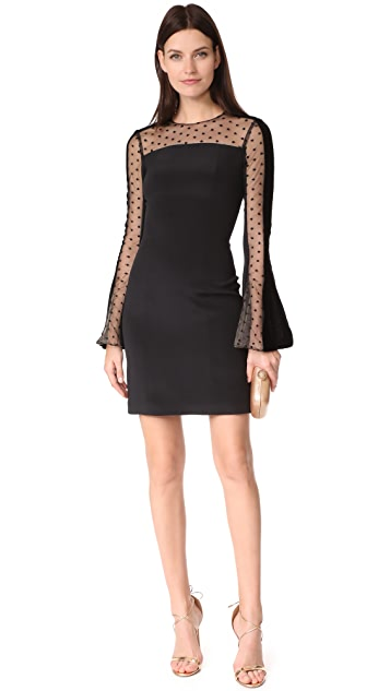 Monique Lhuillier Dress with Flared Sleeves