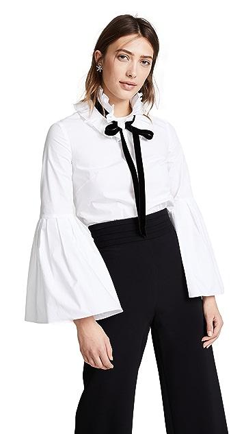 Monique Lhuillier Bell Sleeve Blouse