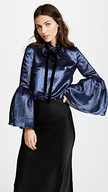 Monique Lhuillier Bell Sleeve Blouse