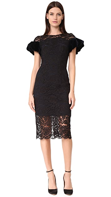 Monique Lhuillier Puff Sleeve Dress