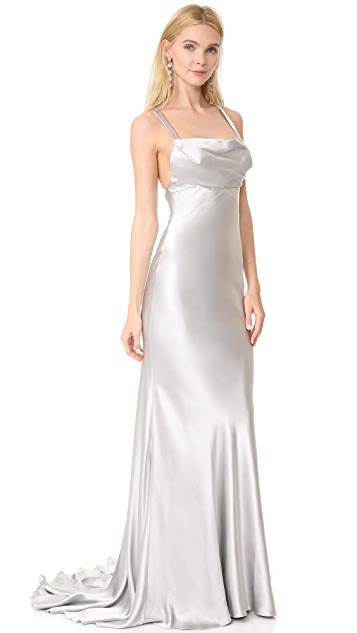 Monique Lhuillier Drape Front Gown