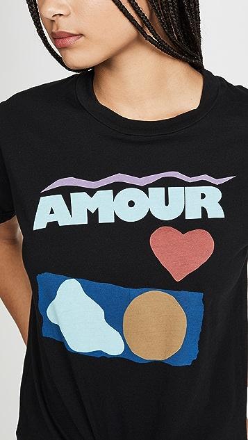 монограммы Футболка Amour