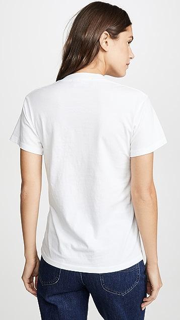 交织字母 Pasta T 恤