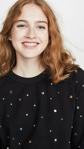 Monogram Rainbow Rhinestone Sweatshirt