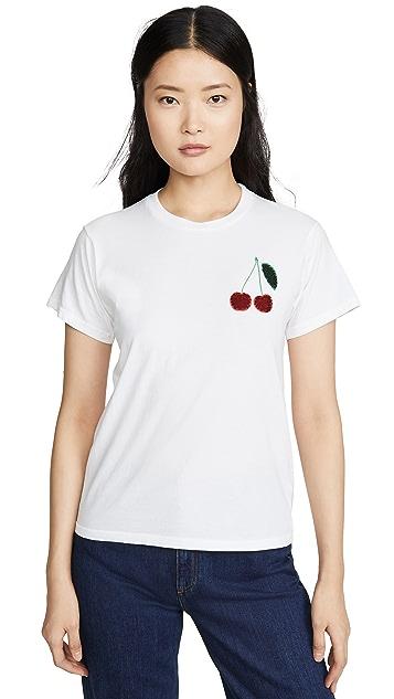 Monogram Sequin Cherries Tee