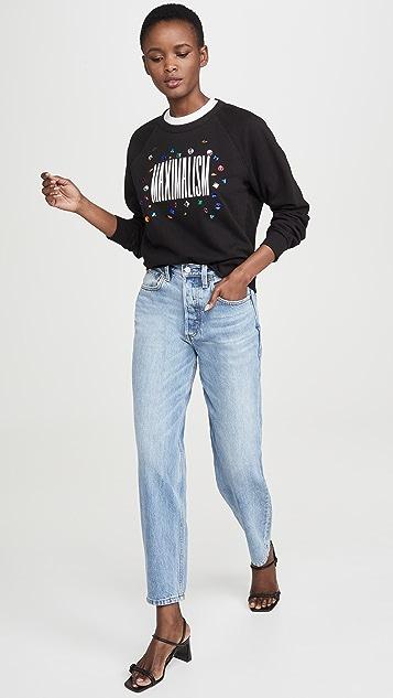 Monogram Maximalism Sweatshirt with Rhinestones
