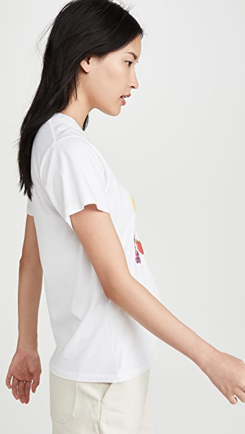 交织字母 Las Fruitas T 恤