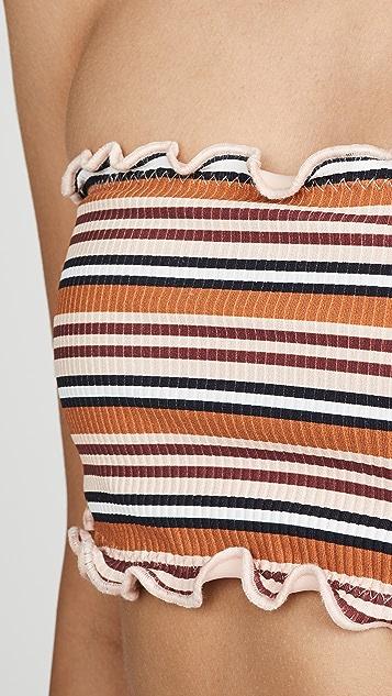 Montce Ruffle Edge Beau Bikini Top