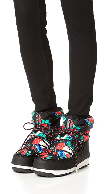 Moon Boots MSGM x Moon Boots Rose Booties