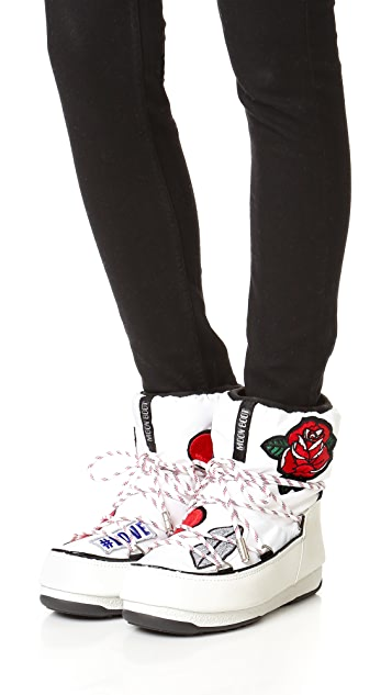 Moon Boots MSGM x Moon Boots Low Booties