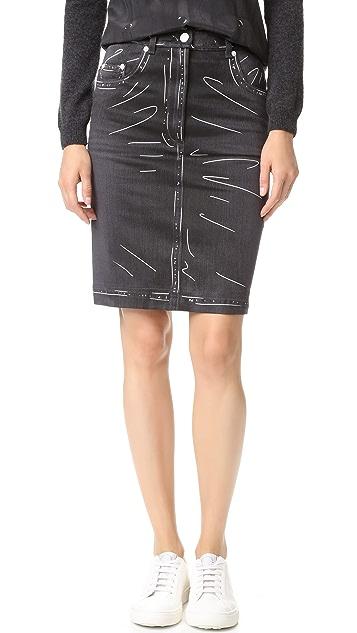 Moschino Denim Skirt