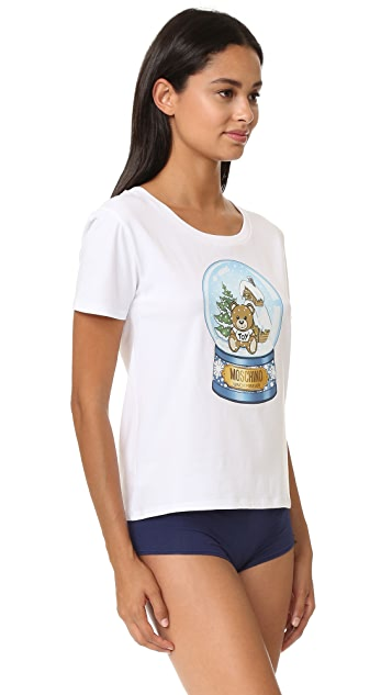 Moschino Snow Globe Bear T-Shirt