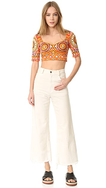 Moschino Printed Crop Top