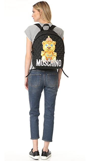 Moschino Printed Backpack