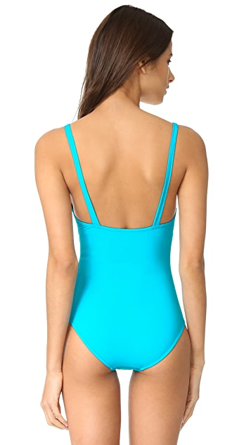 Moschino One Piece Cutout Swimsuit