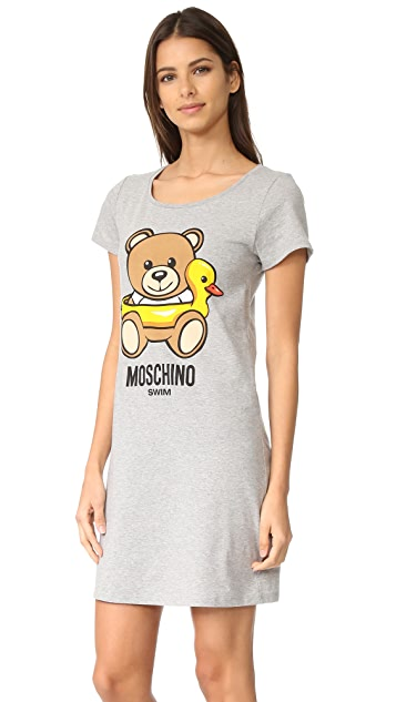 Moschino T-Shirt Cover Up Dress