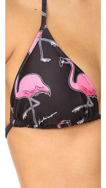 Moschino Flamingo Print Bikini