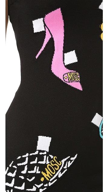 Moschino Sleeveless Printed Dress