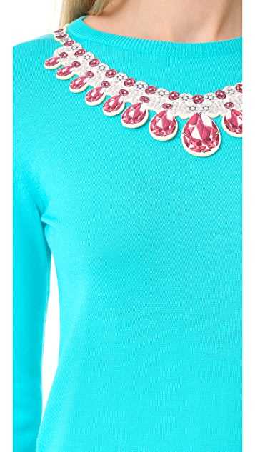 Moschino Necklace Applique Sweater