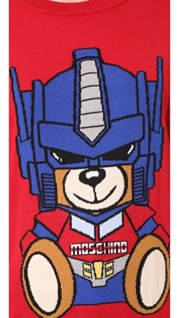 Moschino Transformers Bear Sweater