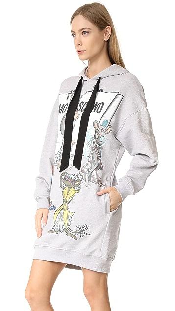Moschino Printed Long Sleeve Dress