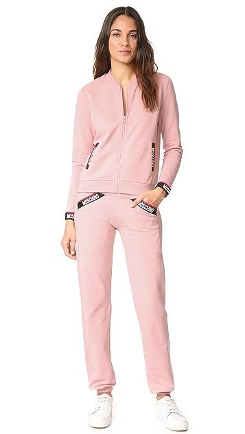 Moschino Zip Up Sweatshirt