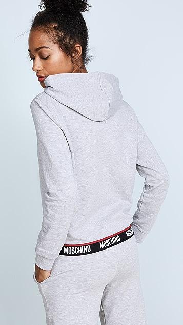 Moschino Zip Up Hoodie