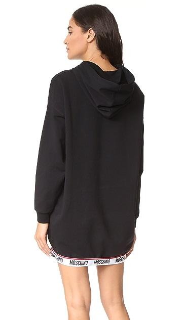 Moschino Hoodie Sweatshirt Dress