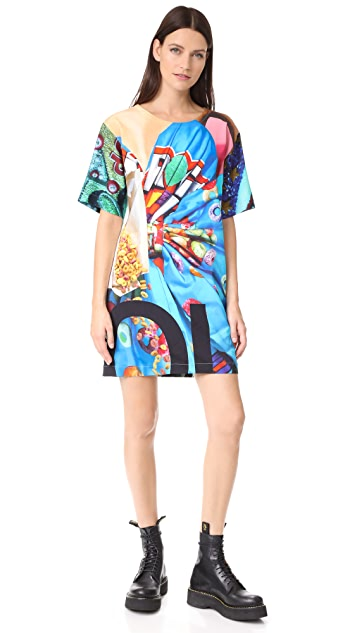 Moschino Mixed Print Dress