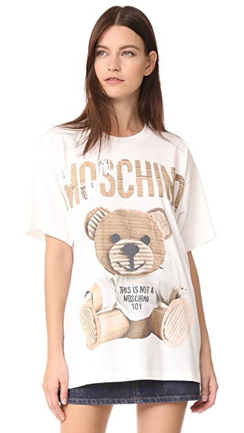 217e14120 Moschino Oversize Bear Shirt   SHOPBOP
