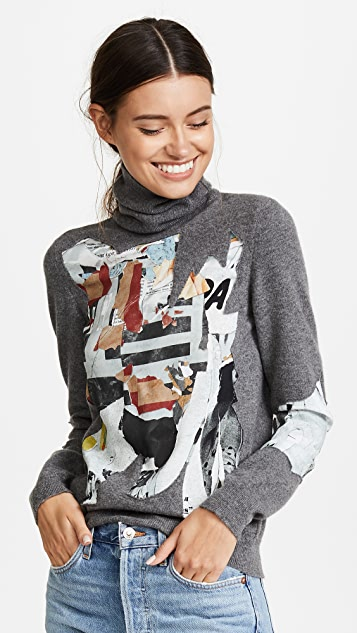 Moschino Printed Turtleneck Sweater