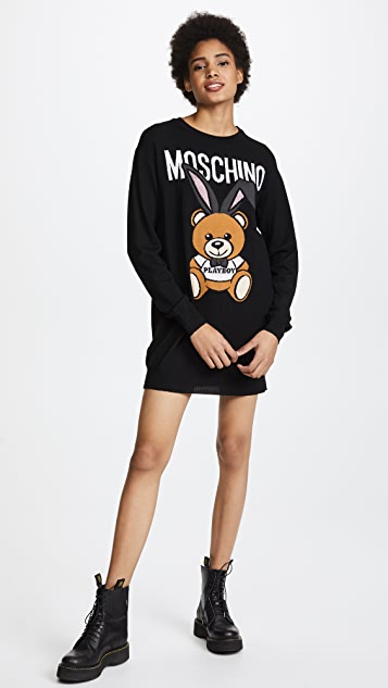 Moschino Logo Sweater Dress