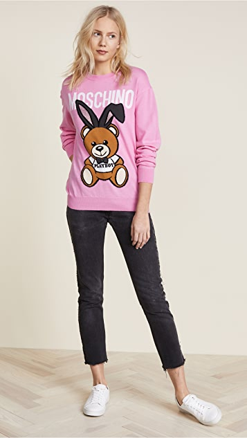 Moschino Bear with Bunny Ears Sweater
