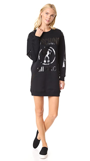 Moschino Logo LS Dress