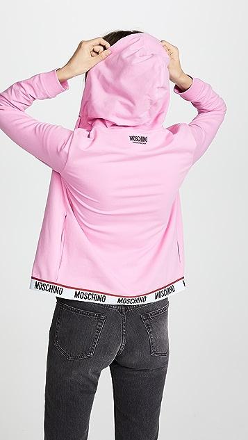 Moschino Moschino Intimates Zip Up Hoodie