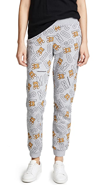 Moschino Moschino Intimates Lettering Pajama Pants