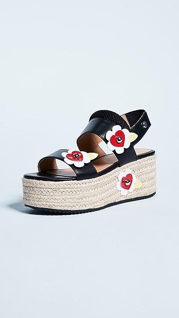 Moschino Love Moschino Platform Flower Sandals