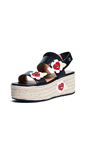 Moschino Love Moschino Platform Flower Sandals