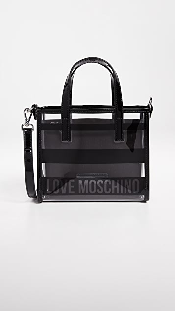 Moschino Love Moschino Cross Body Patent Bag - Black