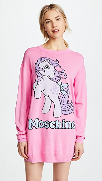 Moschino My Little Pony Pink Oversized Sweatshirt - Pink