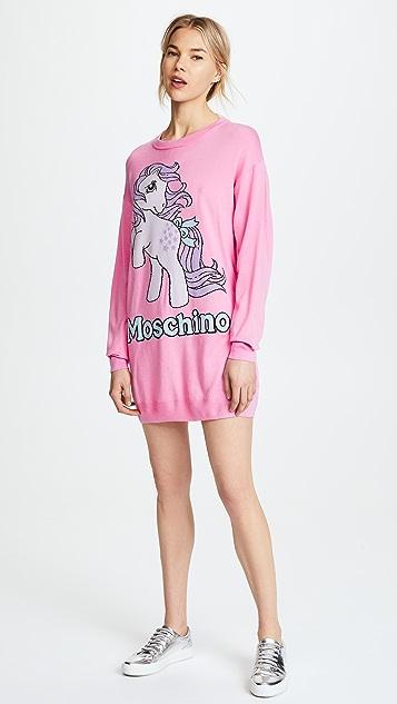 Moschino My Little Pony Pink Oversized Sweatshirt