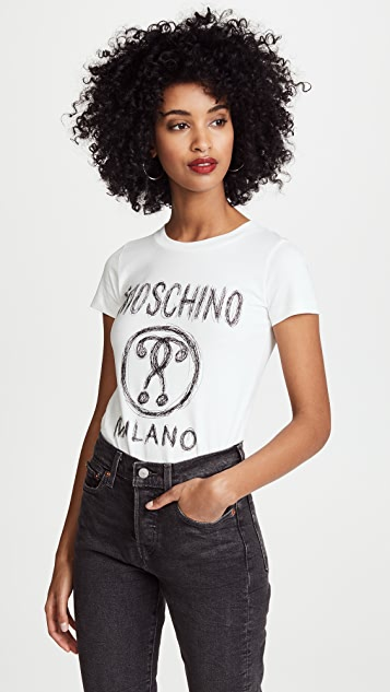 Moschino Moschino Logo Tee - White