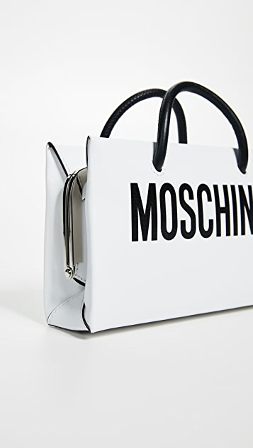 Moschino Logo Cross Body Clutch