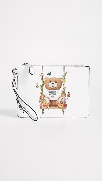 Moschino Bear Wristlet