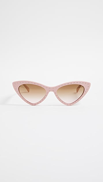 Moschino Pointed Cat Eye Sunglasses - Pink/Brown Gradient