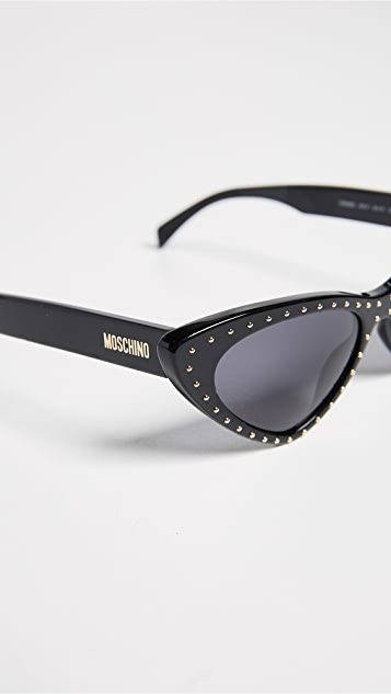 Moschino Pointed Cat Eye Sunglasses