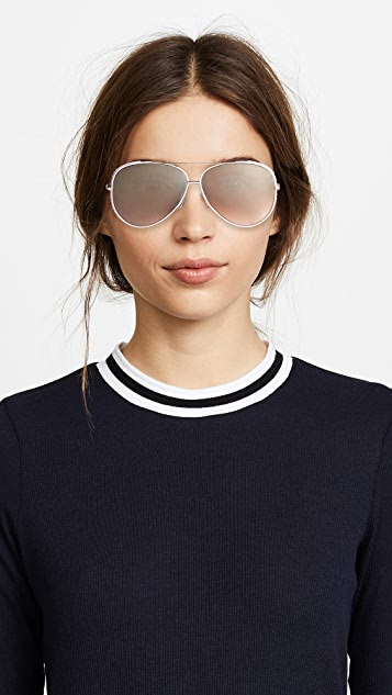 Moschino Aviator Sunglasses