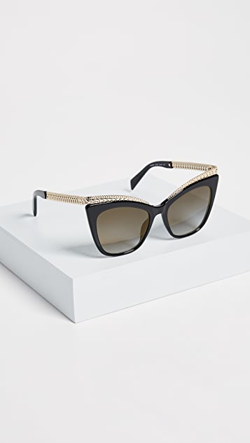 Moschino Chain Cat Eye Sunglasses